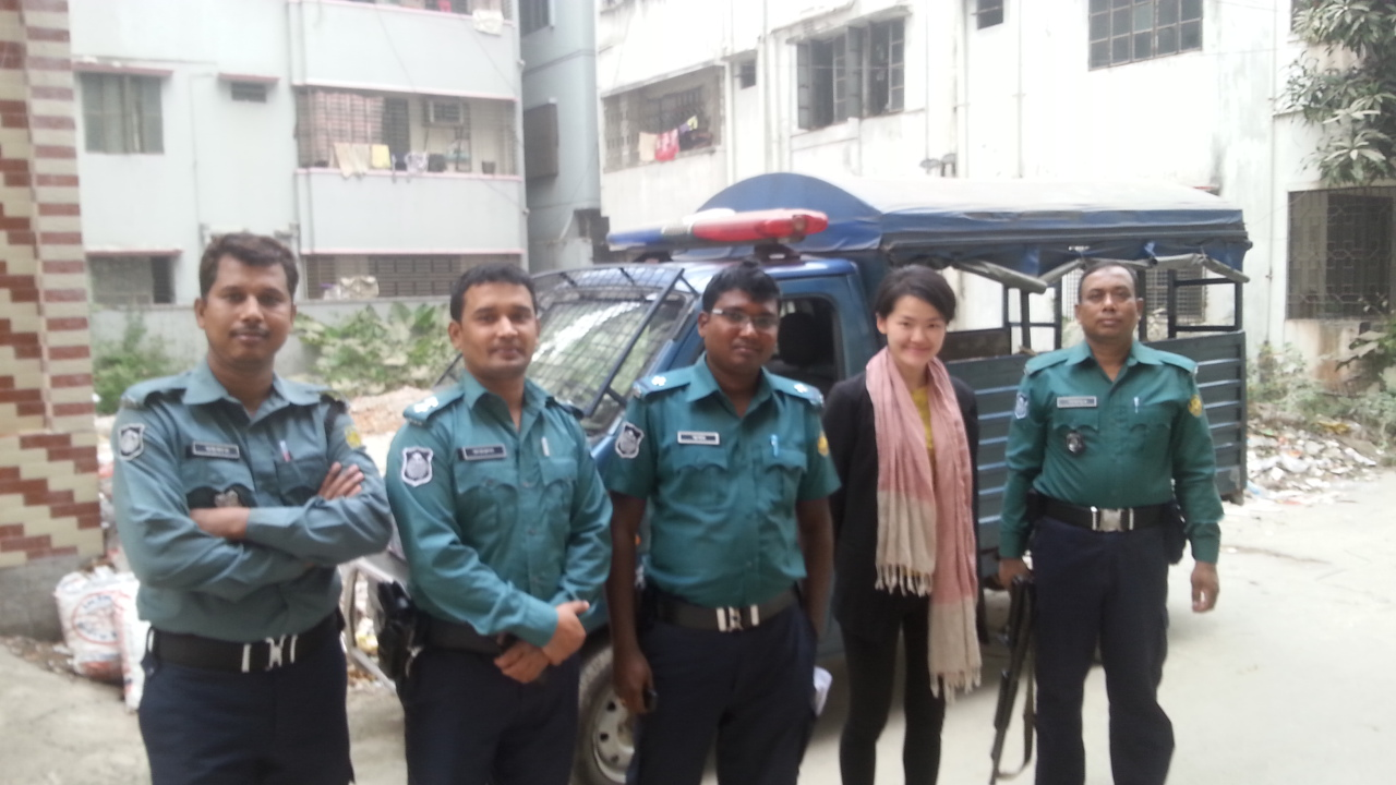 Bangladesh: Thank you for the police escorts