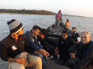 The boat trip to see the deer at Nijhum dwip.